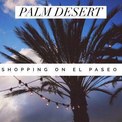 Shopping on El Paseo