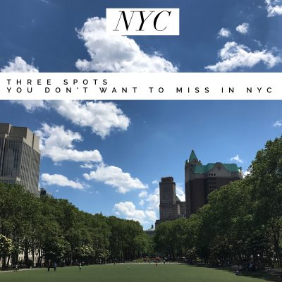 Three NYC Stops You Don't want to Miss