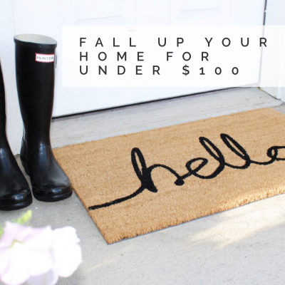Fall Up Your Home For Under $100 With These Items