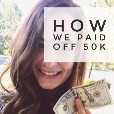 How we paid off 50k